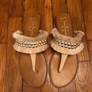 Jessica Simpson 'Crespo' Studded Fringe Sandals